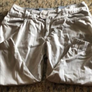 Capri/long shorts.  Organic cotton. Cream color.
